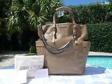 NWT Jimmy Choo Blare Biker Leather Pocket Tote- BUFF(TAN BEIGE)-$1895-Sold Out!