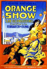 1918 8th National Orange Show San Bernardino California Advertisement Poster