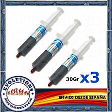 3x PASTA TERMICA SILICONA 30 GRAMOS PLATA CALIDAD PROCESADOR ORDENADOR XBOX PS3