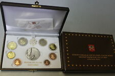 VATICANO 2011 SERIE DIVISIONALE PROOF FS PP BE 8 MONETE EURO + SILVER MEDAL AG