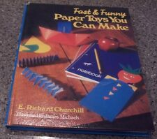 """E. Richard Churchill """"Fast and Funny Paper Toys You Can Make"""" HARDBACK BOOK"""