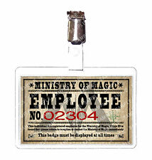 Harry Potter Ministry of Magic Staff ID Badge Hogwarts Cosplay Costume Halloween