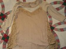 Free People Women's Mixed media shirt - Cute for Summer-size small
