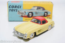 CORGI TOYS 304 MERCEDES BENZ 300SL 300 SL HARD TOP VN MINT BOXED RARE SELTEN