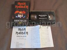IRON MAIDEN Donington Live 1992 JAPAN VHS VIDEO w/PS+Insert TOVW-3172 Free S&H