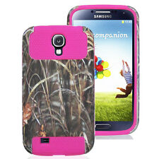 Pink Silicone Gel Rubber TUFF Amor Hard TPU Box Case Cover for Samsung GALAXY S4