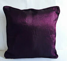 Luxury Plain Dyed Cushion Cover Covers Silk Pillow Case Home Sofa Decor Floor UK