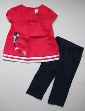 Gymboree Blooming Nautical Pink Kite Swing Top & Navy Knit Pants Set 2T NEW NWT