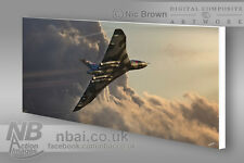 Avro Vulcan B.2 XH558 CANVAS PRINT, Digital Artwork