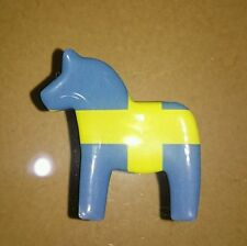 Sweden Gamla Horse Mini Fridge Magnet Souvenir Gift NEW ~ Sweden Flag Design