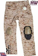 AIRSOFT EMERSON GEN 3 BATTLE PANTS TROUSERS AOR1 WITH KNEE PADS 32-34 CRYE STYLE
