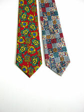 2 X CRAVATTE TIES  SETA  SILK MARCO POLO FRANCESCO BORGIA ORIGINALI