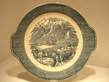 "Currier & Ives "" The Rocky Mountains"" Platter"