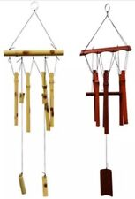 Origanal Tan BAMBOO WIND CHIMES by GARDEN COLLECTION Brand New