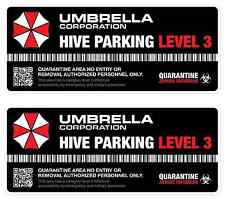Umbrella Corporation Hive Parking Level 3 Resident Evil Vinyl Decal Sticker