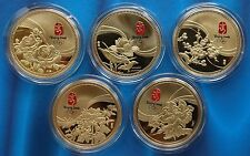 China medal the Chinese Famous Flowers for the Olympic Games China coin