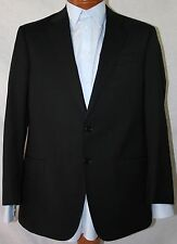 New Armani Collezioni 'G-Line' Black Wool 2-Bt Suit 38R/W32 EU48R.