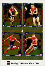 2011 AFL Teamcoach Trading Cards Gold Parallel Team Set Melbourne (11)