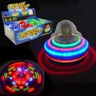 Light Up Jumbo Flashing Top Laser Disco Music Spinning Sound Classic Toy - New