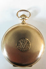 MONTRE GOUSSET SAVONNETTE OR 14 KTS BREGUET GOLD TASCHENUHR HUNTER POCKET WATCH
