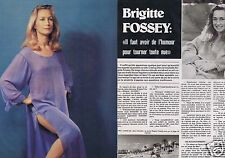 Coupure de presse Clipping 1976 Brigitte Fossey  (4 pages)