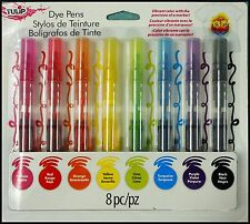 Tulip  DYE PENS - Vibrant Color with the Precision of a Marker - 8 Pen Pack