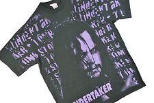 MENS XL VTG 90s Undertaker Wrestling T Shirt All Over Print WWE WWF 1995 Deadman