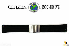 Citizen Eco-Drive CB0020-09E Black Rubber Watch Band CB0027-00E CB0027-18E