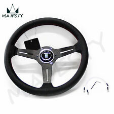 Racing Style 330mm Alloy Steering Wheel UNIVERSAL flat bottom