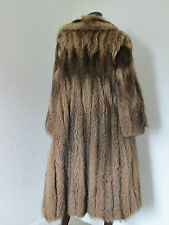 red fox wolf fur full length long coat red ginger brown small s uk10 uk12