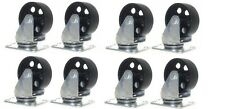 "8 Pack Large All Steel Metal Swivel Caster Heavy Duty 3.5"" Wheel 3000lb Capacity"