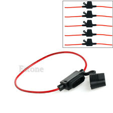 5pcs In Line mini Blade Fuse Holder Splash Proof for 12V 30A Fuses Car Bike