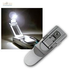 LED Lámpara lectura con Pilas, para leer Clip de libro, Luz del libro