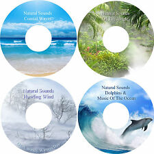 Natural Sounds Dolphins & Music Waves Jungle Wind 4 CDs Relaxation Stress Relief