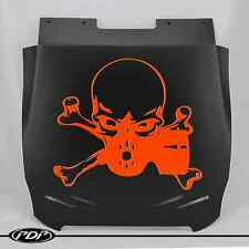 Arctic Cat Pro Climb Chassis 2012+ Snowmobile Snow Flap, GASMASK _Orange