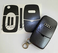 DARK GREY METALLIC Key Wrap Cover Overlay Audi Remote A1 A2 A3 A4 A5 A6 A8 TT