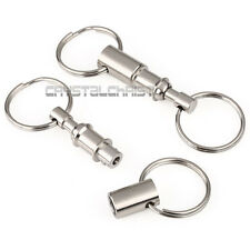 5Pcs Quick Release Pull-Apart Removable Keyring Detachable Keychain Portable