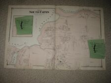 ANTIQUE 1874 MIDDLETOWN INSANE ASYLUM MIDDLESEX COUNTY CONNECTICUT HANDCOLOR MAP