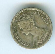 HONG KONG 1893 TEN CENTS--CIRCULATED