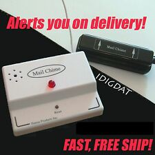 MAIL CHIME Mailbox Alert Wireless Box Motion Sensor Notify Audio Alarm LED USPS