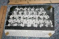 1945 DETROIT TIGERS AMERICAN PENNANT WINNING TEAM PHOTO FROM BASEBALL MAGAZINE