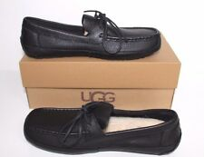 1005240 UGG Australia Men Marlowe Leather Causal Slip On Loafers Shoes Black 10