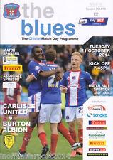 2014/15 Carlisle unida V Burton Albión 21-10-2014 Liga 2 (Nuevo)