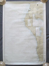 1999 Point Arena to Trinidad Head NOAA Soundings in Fathoms Chart West Coast CA