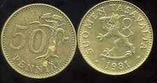 FINLANDE 50 pennia 1981
