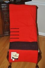 HUDSON BAY BLANKET/NEW 4 PT RED BLACK STRIPE  TWIN/FULL