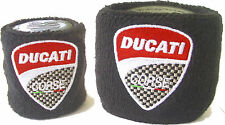 DUCATI RESERVOIR COVERS BLACK SOCK WRISTBAND PAIR MONSTER DIAVEL HYPER MTS1200