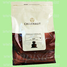 CALLEBAUT DARK CHOCOLATE 5.5# FOR FOUNTAIN FINEST BELGIAN CHOCOLATE