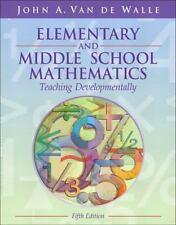 Elementary And Middle School Mathematics by John A Van de Walle