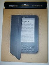 "Amazon Kindle Leather Cover Black  Fits 6"" Display"